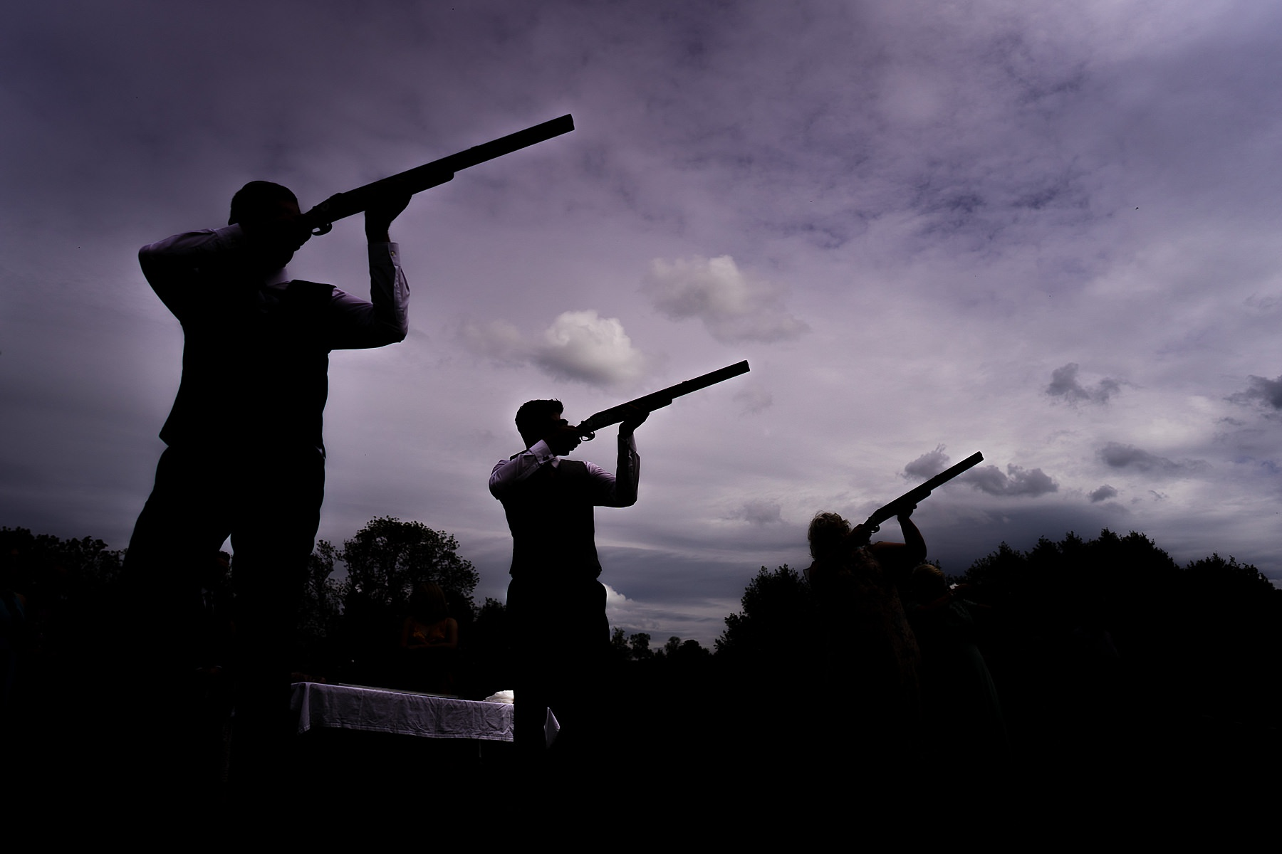 laser clay pigeon shooting at wedding
