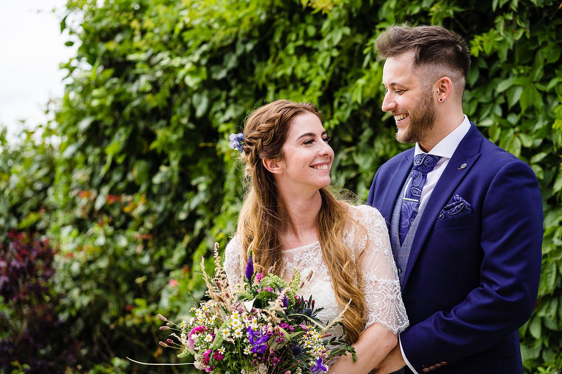 bride and groom portraits at heaton house farm