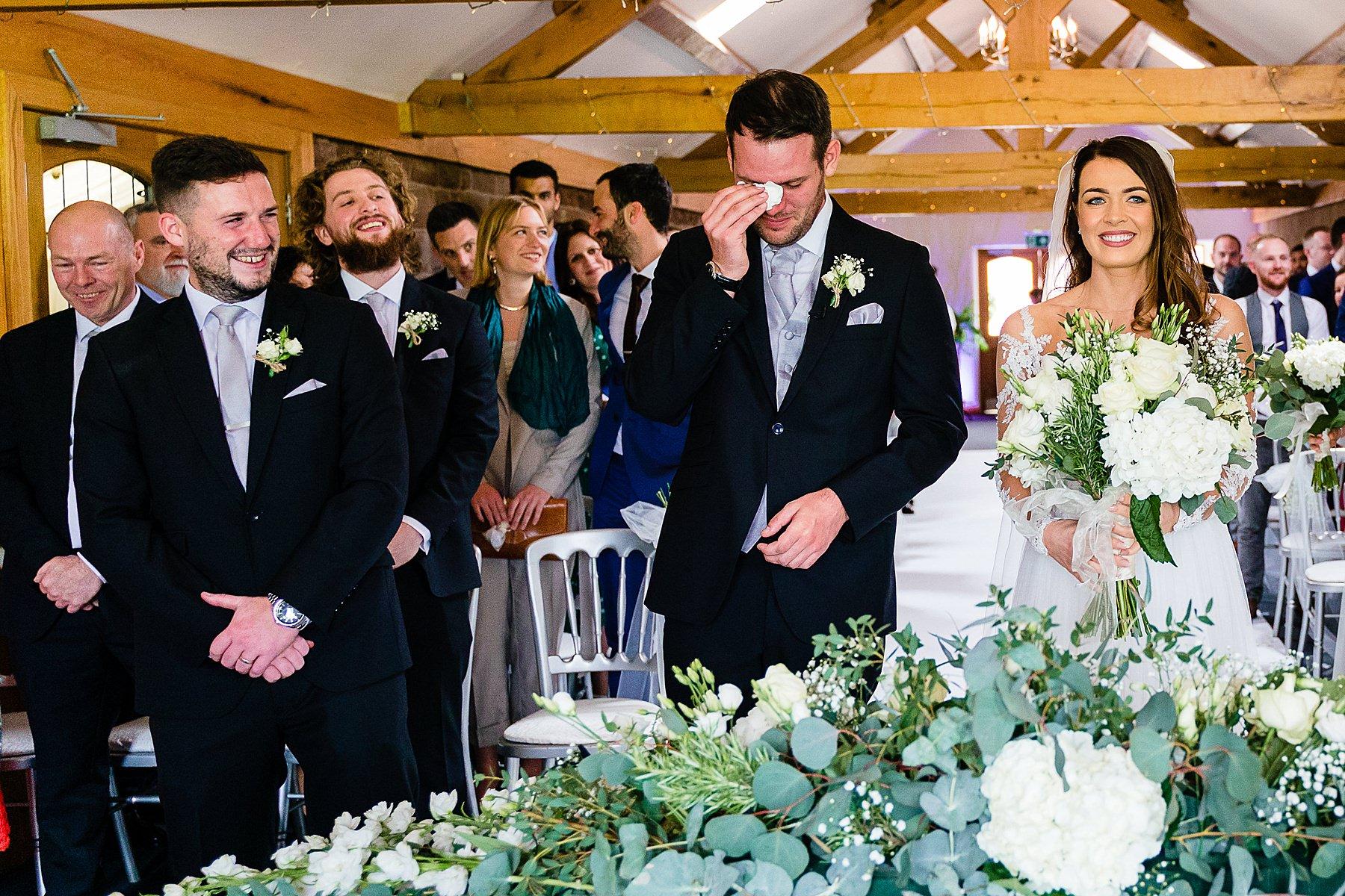 groom overwhelmed