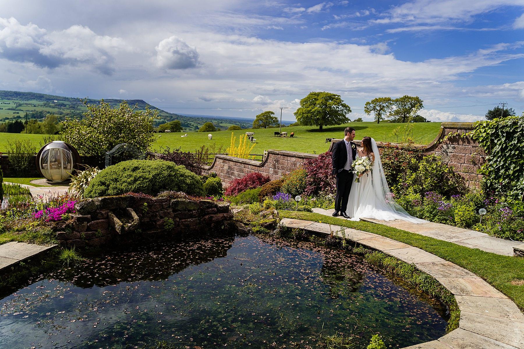 bride and groom photos at heaton house farm