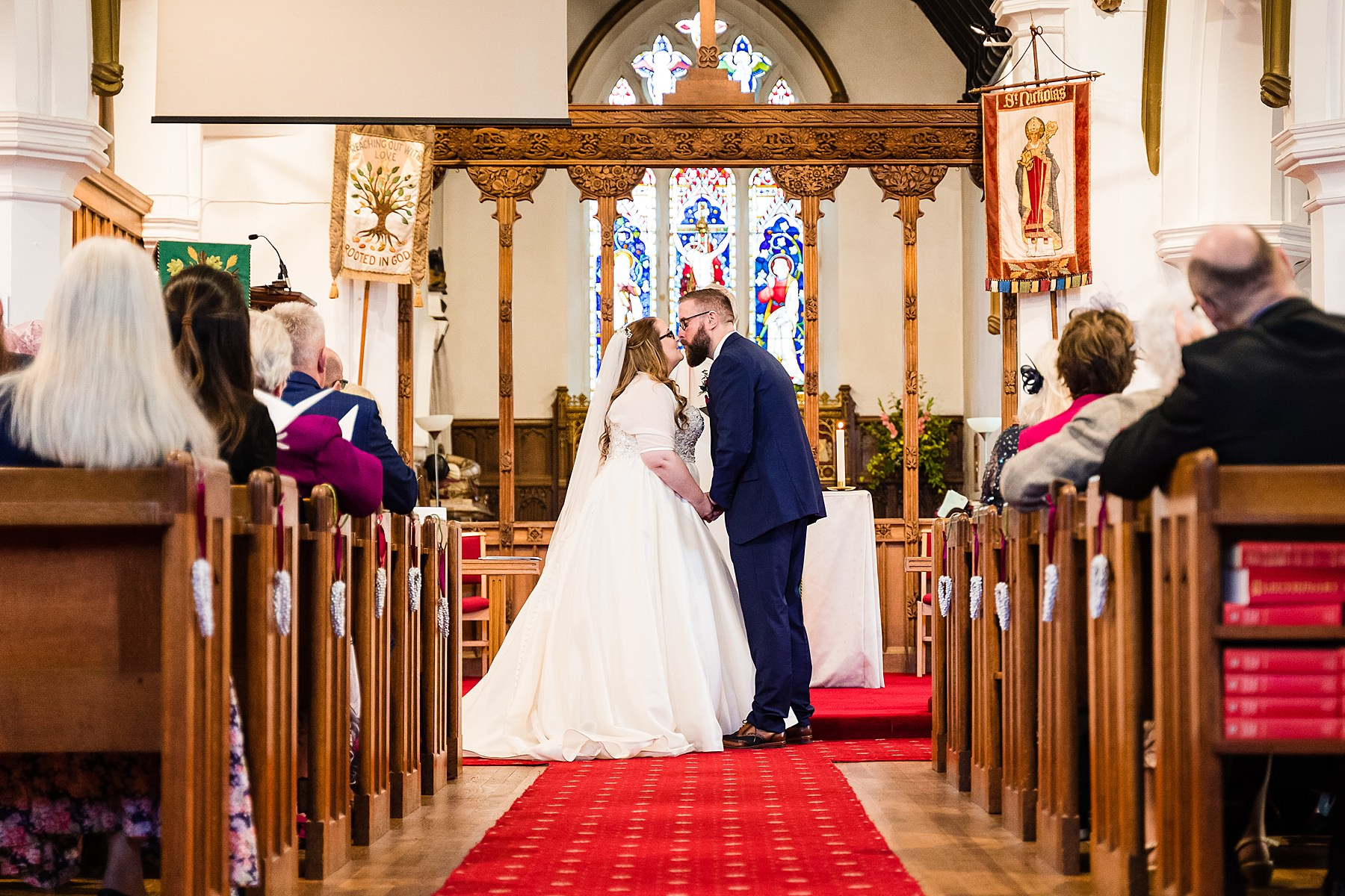 wedding at st nicholas church codsall