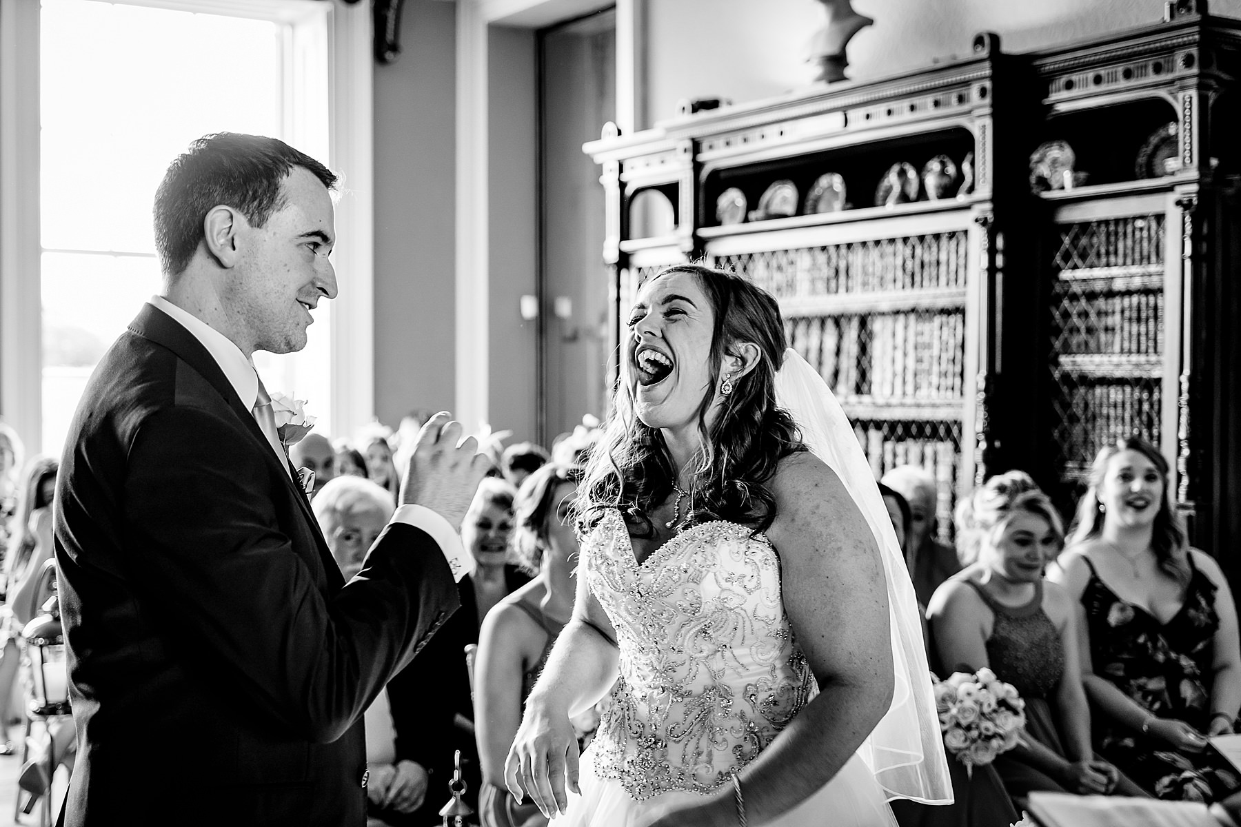 wedding ceremony at prestwold hall