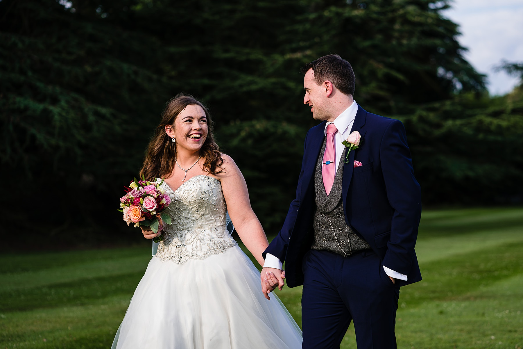 bride and groom portraits at prestwold hall