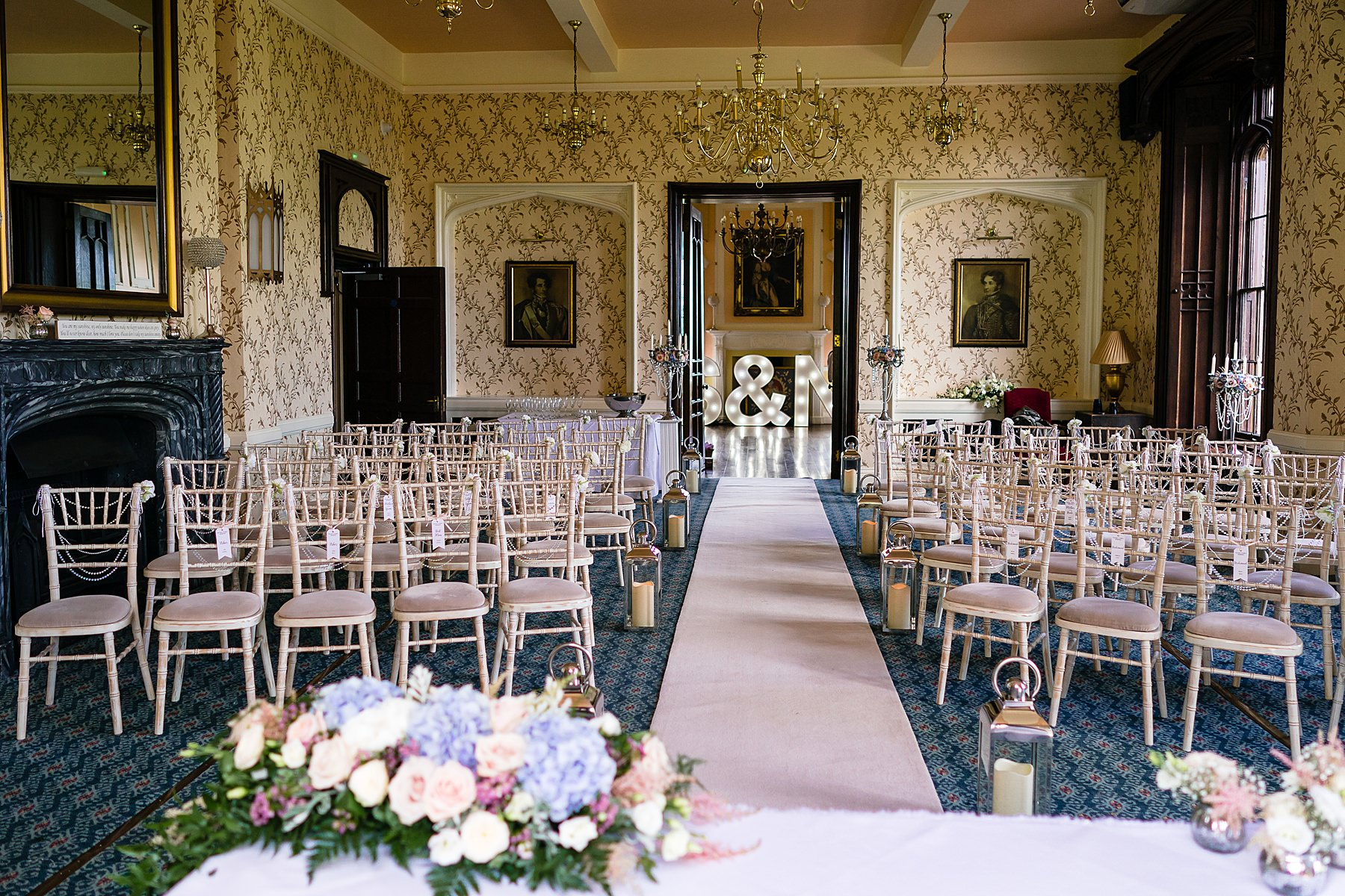 ceremony room at rowton castle