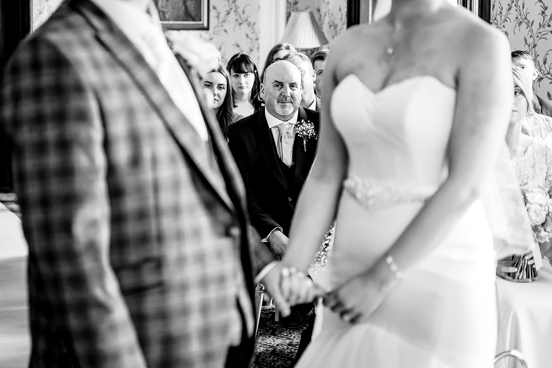 wedding ceremony at rowton castle