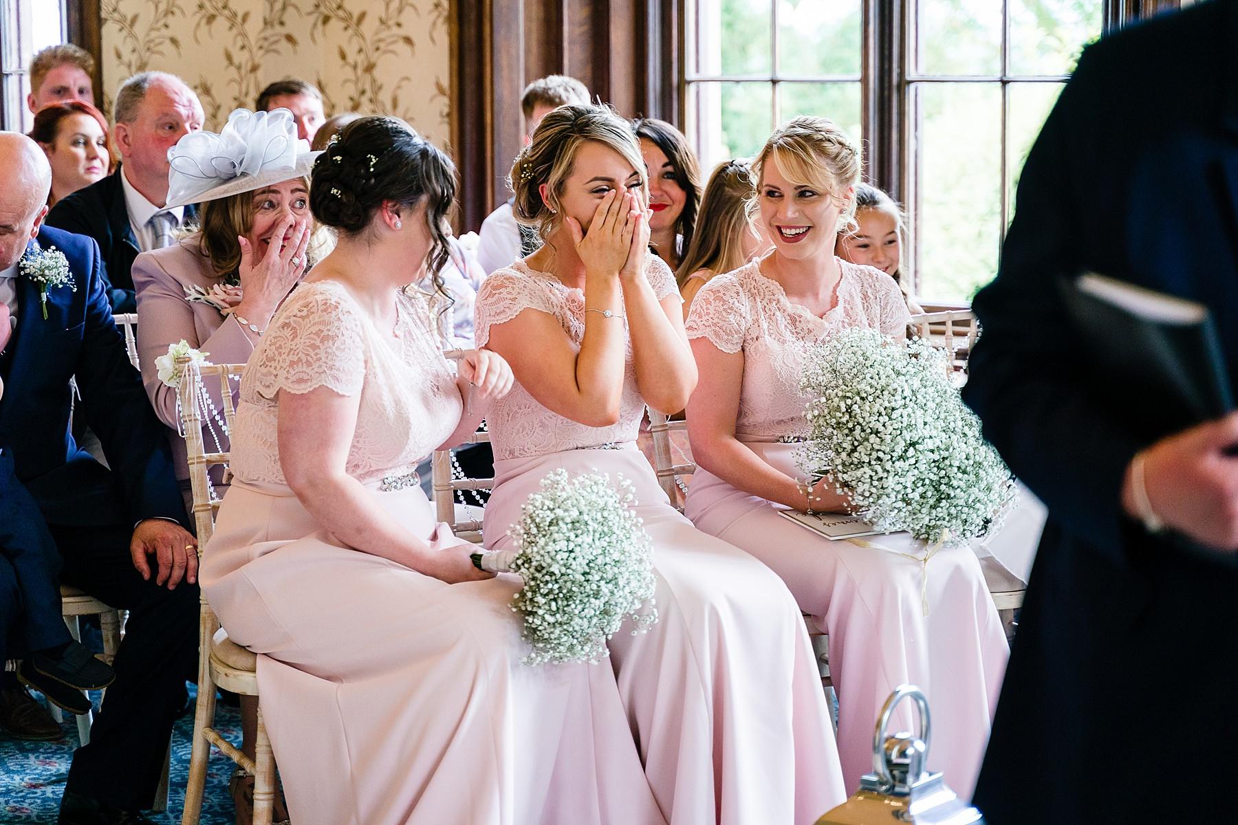 wedding ceremony at rowton castle