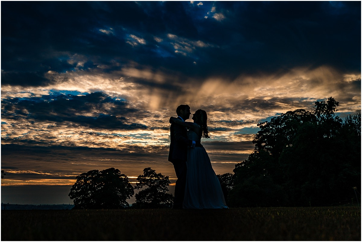 sunset photo at sandon hall