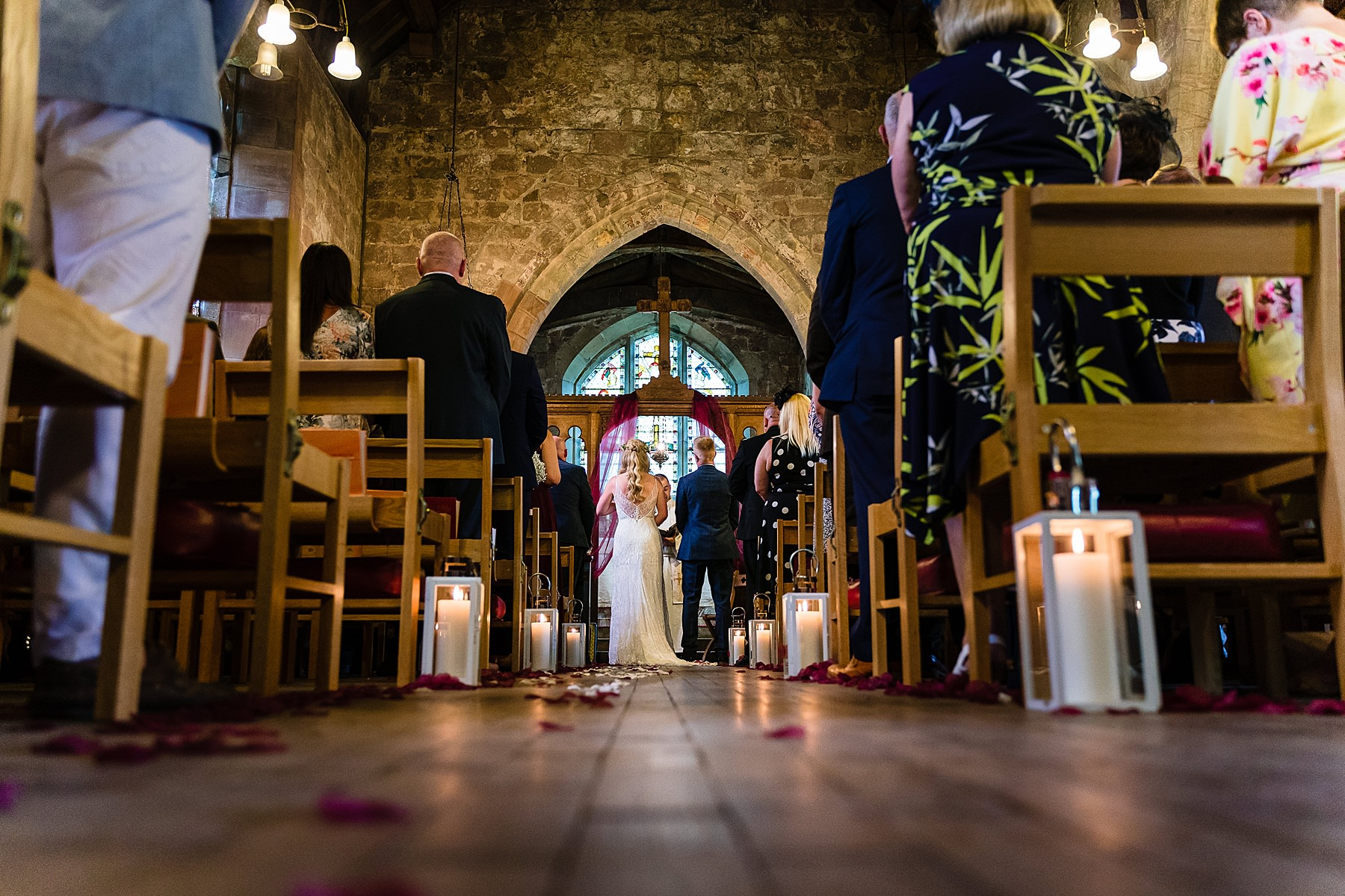 wedding ceremony at chebsey church