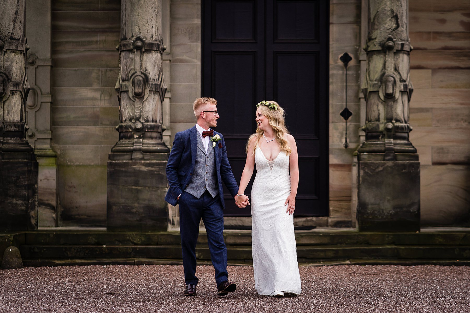 bride and groom portraits at sandon hall