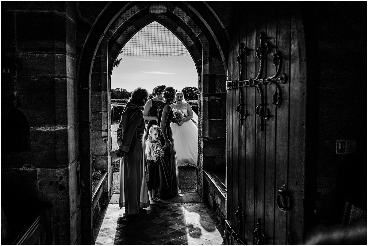 at church door