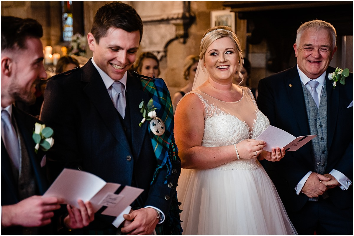 wedding ceremony at st james church acton trussell