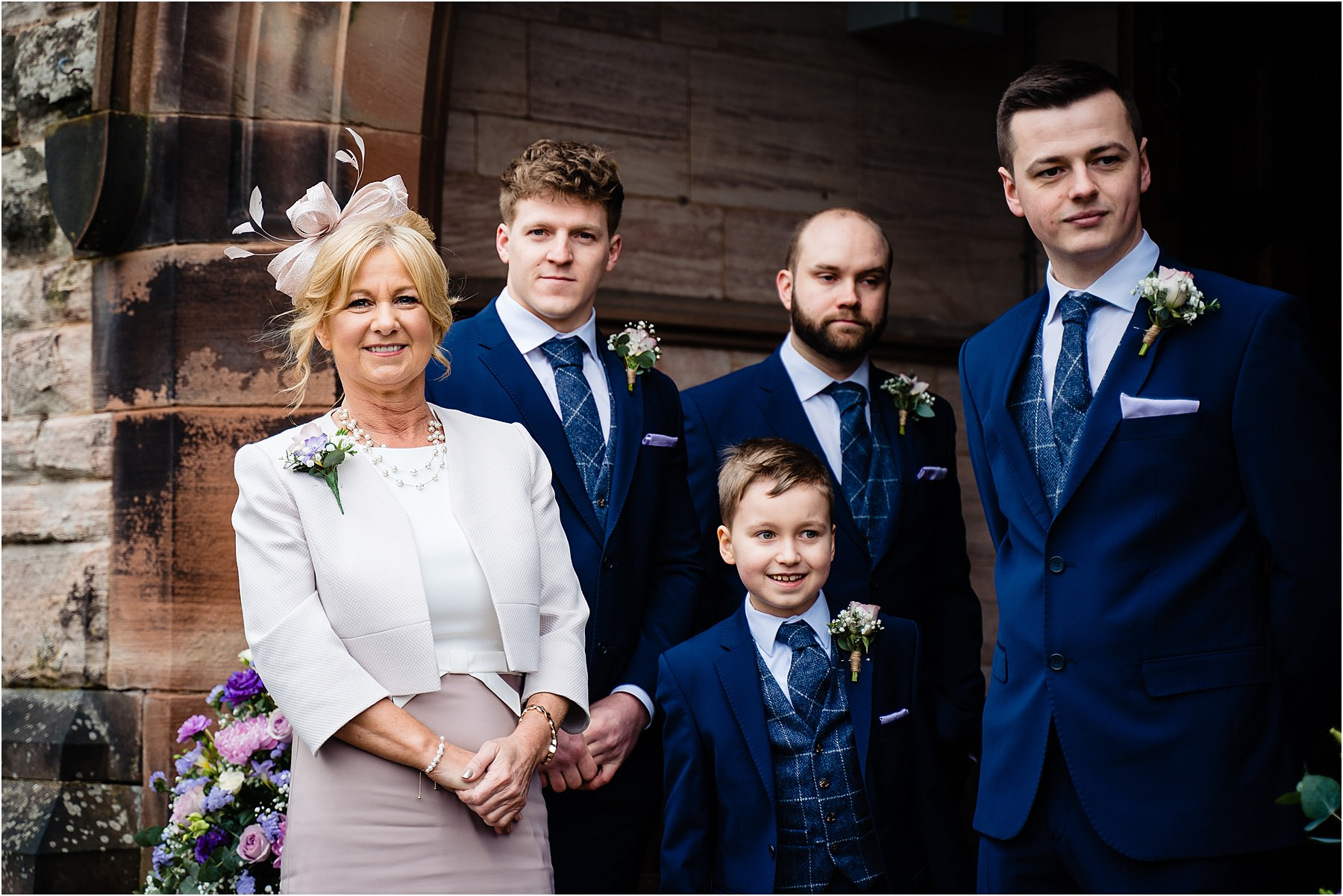 brides mum and groomsmen