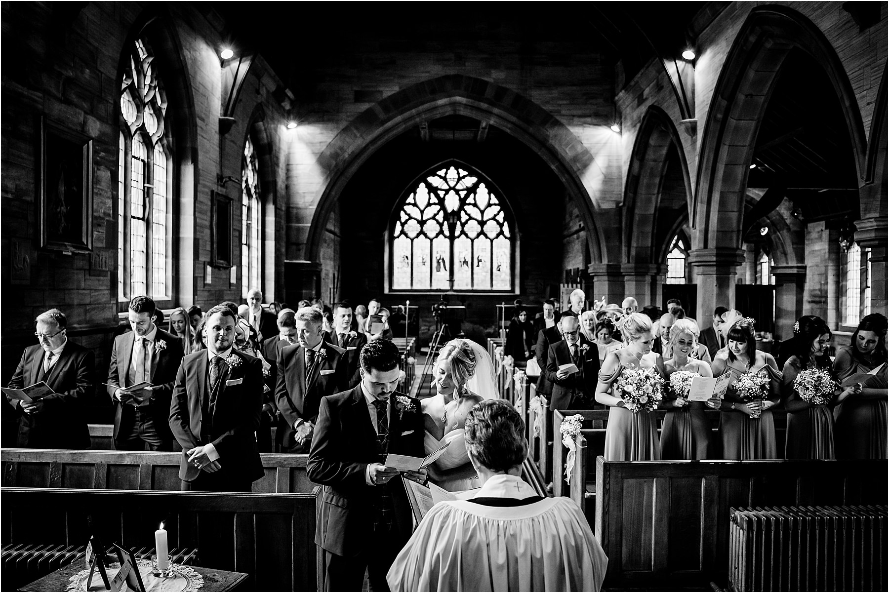 wedding ceremony at st chads longsden