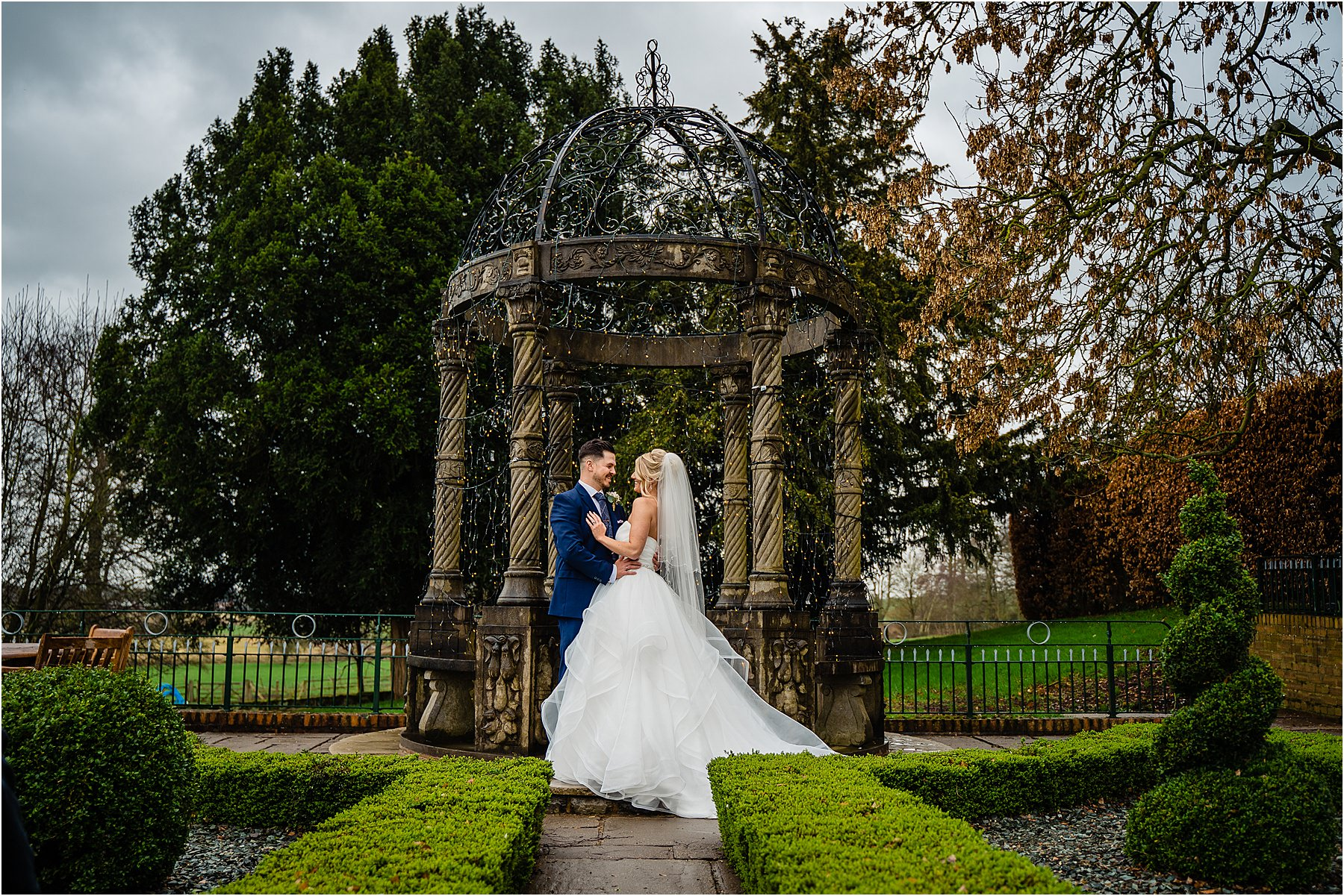 bride and groom portraits at weston hall